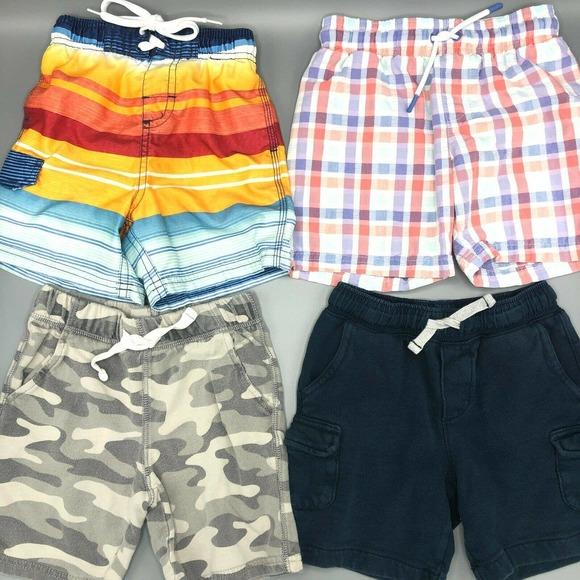Toddler 4T Boys Shorts & Swim Trunks LOT of 4